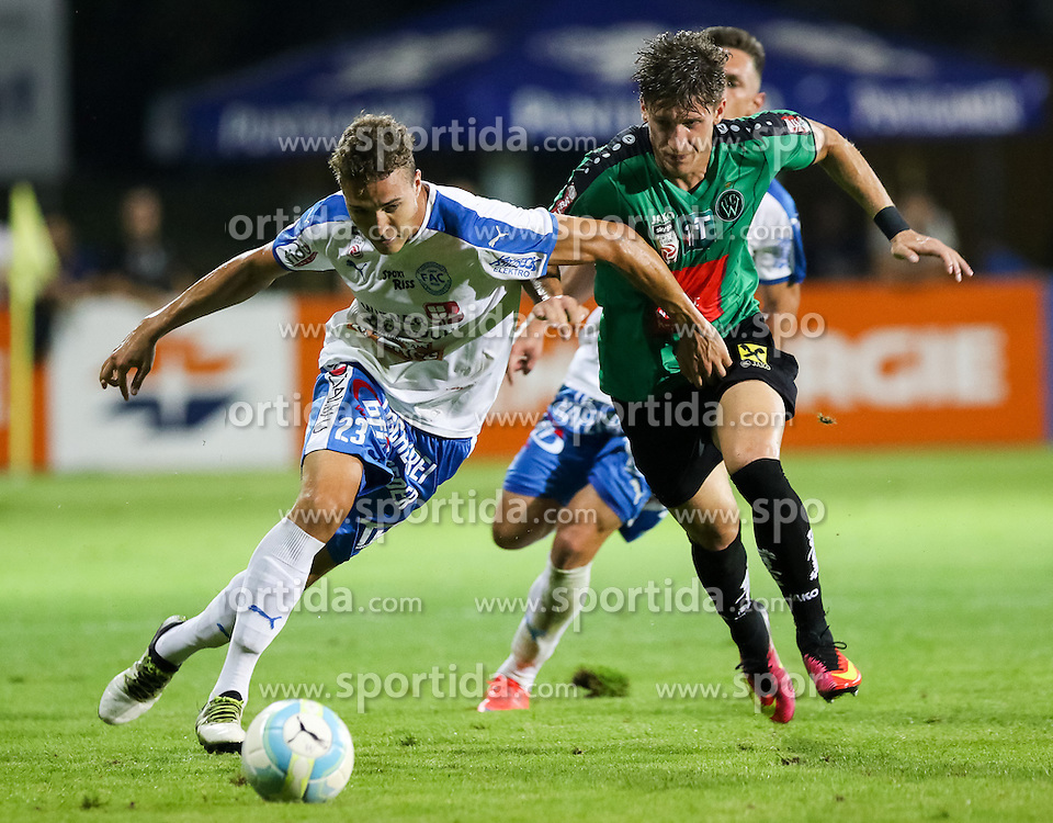 16.09.2016, FAC Platz, Wien, AUT, 2. FBL, FAC Wien vs FC Wacker Innsbruck, 10.Runde, im Bild Lukas Tursch (FAC Wien), Florian Jamnig (FCW Wacker Innsbruck) // during Austrian Football Second Bundesliga Match, 10th round Match between FAC Vienna and FC Wacker Innsbruck at the Sportplatz FAC, Vienna, Austria on 2016/09/16. EXPA Pictures © 2016, PhotoCredit: EXPA/ Alexander Forst
