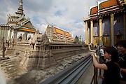 Wat Phra Keo and Grand Palace. Miniature model of Angkor Wat.