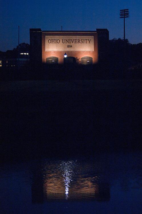 18378 Campus Fall..Ohio University sign