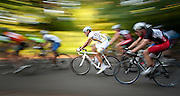 Summer bicycle racing Mount Tabor Park Portland Oregon