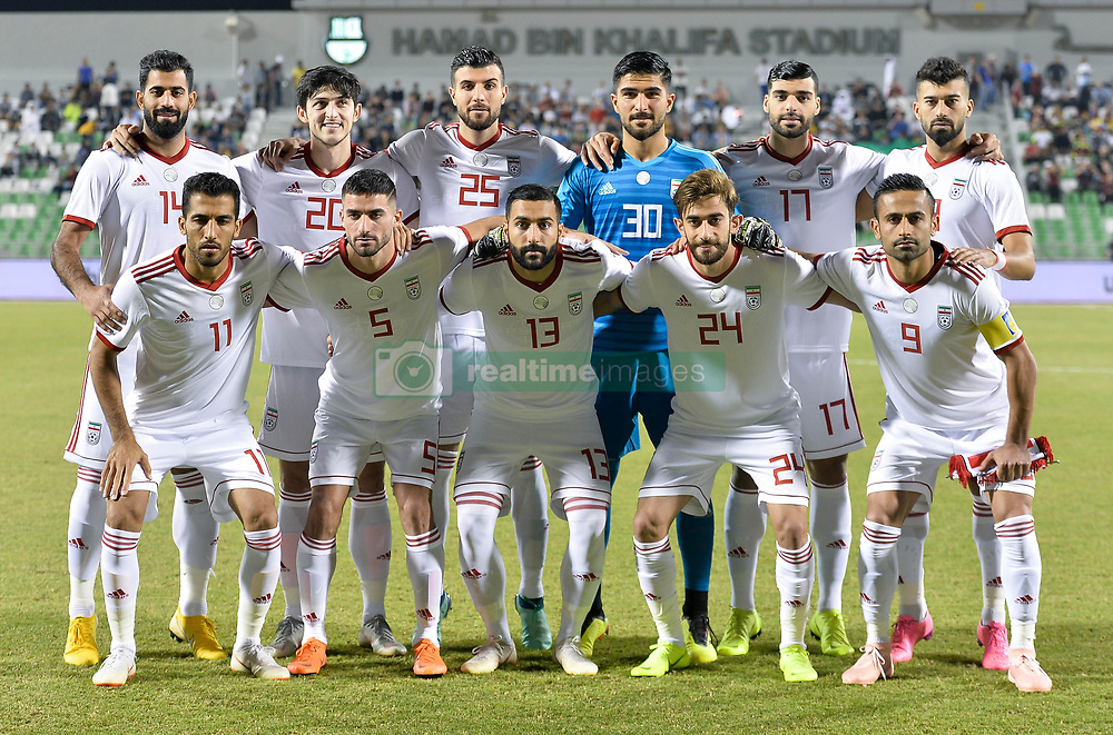 DOHA, Nov. 21, 2018  Iran's national team players pose for a team photo prior to the international friendly soccer match between Iran and Venezuela at Al Ahli Stadium in Doha, capital of Qatar, Nov. 20, 2018. The match ended with a 1-1 draw. (Credit Image: © Nikku/Xinhua via ZUMA Wire)