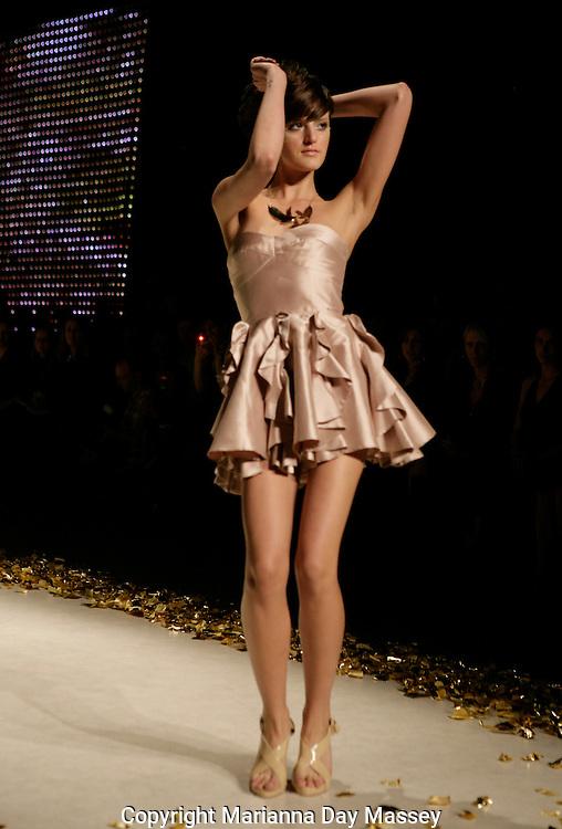 Apr 30, 2009 - Sydney, Australia - A model displays a creation of  'Juli Grbac,' during the Spring/Summer 2009/2010 collection, during Rosemount Australian Fashion Week in Sydney..(Credit Image: © Hannah Mason/Corbis)