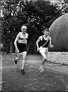 Joe Deakin, 79 year old British Athlete at Morton stadium.27/07/1957