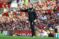 Picture by Paul Chesterton/Focus Images Ltd.  07904 640267.1/10/11.Norwich Manager Paul Lambert during the Barclays Premier League match at Old Trafford Stadium, Manchester.
