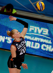 01-10-2014 ITA: World Championship Volleyball Servie - Nederland, Verona<br /> Nederland verliest met 3-0 van Servie en is kansloos voor plaatsing final 6 / Quirine Oosterveld