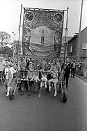 North Gawber banner, 1983 Yorkshire Miner's Gala. Barnsley