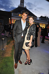 Actress Olivia Palermo and  Johannes Huebl at the annual Serpentine Gallery Summer Party sponsored by Canvas TV  the new global arts TV network, held at the Serpentine Gallery, Kensington Gardens, London on 9th July 2009.