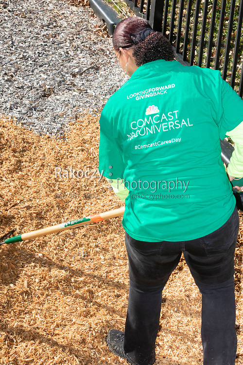 Comcast / NBCUniversal gathers vounteers once again for their Comcast Cares Day on April 21, 2018, to improve the communities they live and work in. This event was held at B. P. Learned Mission in New London, CT and included gardening, landscaping, interior cleaning and organization, and general cleanup.