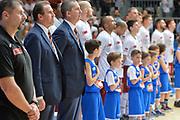 DESCRIZIONE : Milano Lega A 2014-15 Acqua Vitasnella Cantù vs Umana Reyer Venezia Quarti di finale gara 4<br /> GIOCATORE : Carlo RECALCATI<br /> CATEGORIA : PreGame  Inno Nazionale<br /> SQUADRA : Umana Reyer Venezia<br /> EVENTO : Campionato Lega A 2014-2015 GARA :Acqua Vitasnella Cantù vs Umana Reyer Venezia Quarti di finale gara 4<br /> DATA : 25/05/2015 <br /> SPORT : Pallacanestro <br /> AUTORE : Agenzia Ciamillo-Castoria/IvanMancini<br /> Galleria : Lega Basket A 2014-2015 Fotonotizia : Cantu' Lega A 2014-15 Acqua Vitasnella Cantù vs Umana Reyer Venezia Quarti di finale gara 4