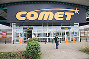 2 November 2012 Comet store at Anglia Retail Park, Ipswich, Suffolk England one of some 250 stores employing 6,500 goes into administration.