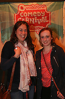 repro free: Vodafone Comedy Carnival : <br /> <br /> Pictured at the launch of the Vodafone Comedy Carnival in the Roisin Dubh were, Zoe Higgins/ Salthill and Ruth McNally/ Knocknacarra The 2016 Vodafone Comedy Carnival runs as part of Vodafone&rsquo;s Centre Stage and is sure to fill the &lsquo;Eyre&rsquo; with laughter with performances from international and home grown comedians over the October bank holiday weekend (25th to 31st of October). Shows will take place in multiple venues across the city, including the brand new venue &lsquo;The Red Box&rsquo; at Eyre Square. Tickets on sale from Monday 29th August. For more for info go to  HYPERLINK &quot;http://www.vodafonecomedycarnival.com&quot; www.vodafonecomedycarnival.com&nbsp; <br /> Photo: xposure.