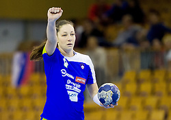 Nina Jericek of Slovenia during handball match between Women National teams of Slovenia and Serbia in 2nd Round of Qualifications for 2014 EHF European Championship on October 27, 2013 in Hala Tivoli, Ljubljana, Slovenia. Slovenia defeated Serbia 31-26. (Photo by Vid Ponikvar / Sportida)