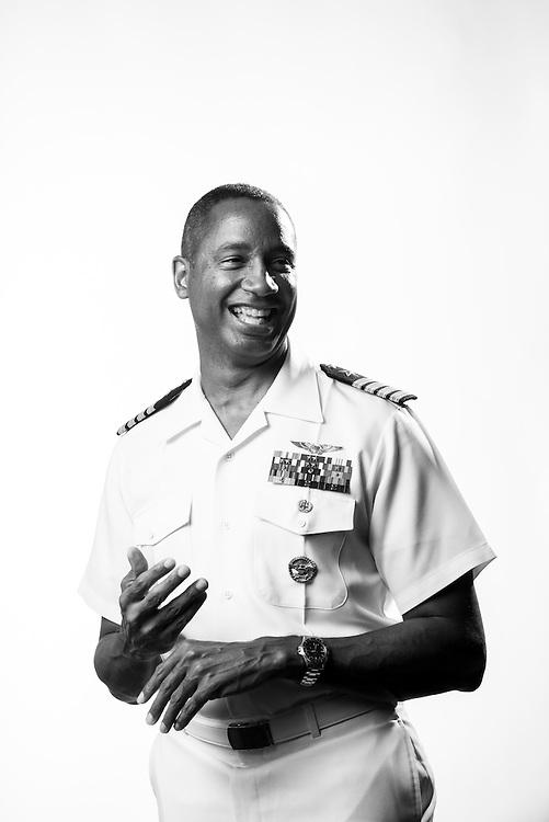 Marco Cromartie<br /> Navy<br /> O-6<br /> Aviator (F-14A)<br /> Aug. 1983 - Dec. 2013<br /> <br /> <br /> Veterans Portrait Project<br /> San Diego, CA