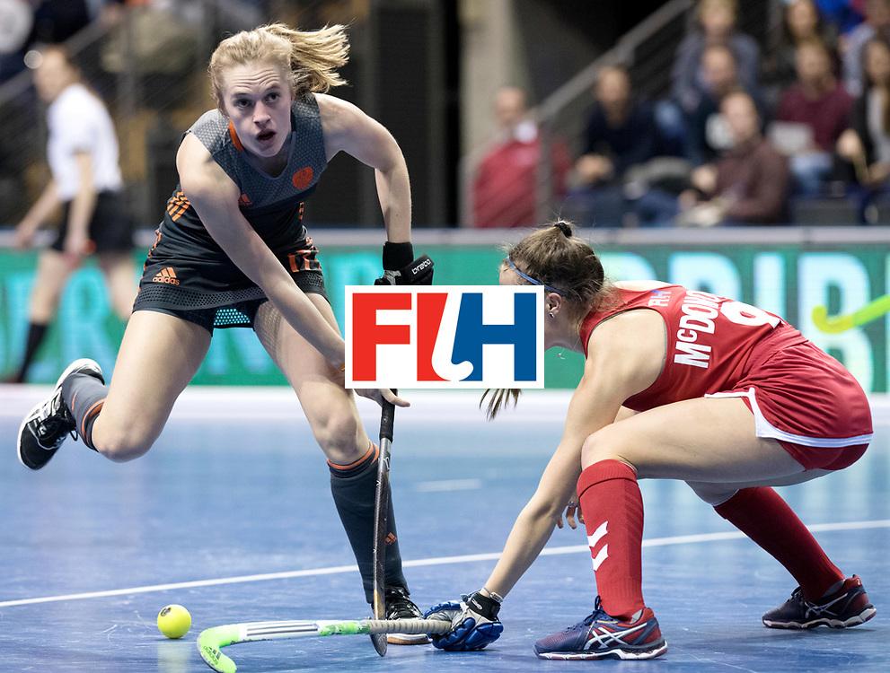 BERLIN - Indoor Hockey World Cup<br /> Women: Netherlands - United States<br /> foto: Elin van Erk.<br /> WORLDSPORTPICS COPYRIGHT FRANK UIJLENBROEK