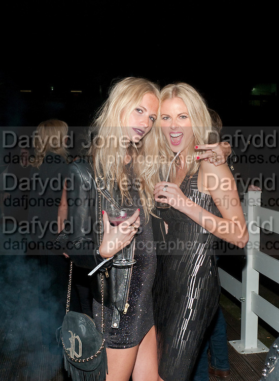 POPPY DELEVIGNE; DONNA AIR, Celebration of 10 years with Kate Moss as the face of the make-up brand Rimmel.  Battersea Power Station. London. 15 September 2011<br /> <br /> <br />  , -DO NOT ARCHIVE-© Copyright Photograph by Dafydd Jones. 248 Clapham Rd. London SW9 0PZ. Tel 0207 820 0771. www.dafjones.com.