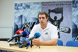 Anze Kopitar, NHL star and player of Los Angeles Kings during press conference after arriving from USA, on May 30, 2016 in Ledna dvorana Bled, Slovenia. Photo by Matic Klansek Velej  / Sportida.com