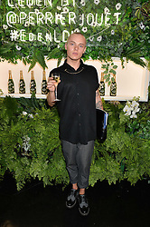 Actor, model & musician DAN CROSSLEY at the opening of L'Eden by Perrier-Jouet held at The Unit, 147 Wardour Street, Soho, London on 15th September 2016.