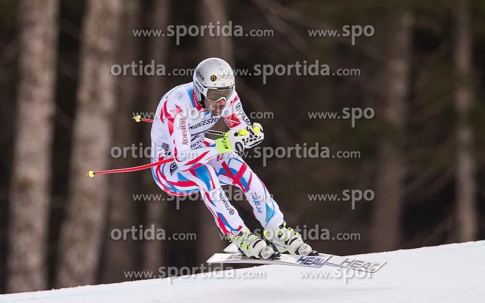 30.01.2016, Kandahar, Garmisch Partenkirchen, GER, FIS Weltcup Ski Alpin, Abfahrt, Herren, im Bild Adrien Theaux (FRA) // Adrien Theaux of France competes in his run for the men's Downhill of Garmisch FIS Ski Alpine World Cup at the Kandahar course in Garmisch Partenkirchen, Germany on 2016/01/30. EXPA Pictures © 2016, PhotoCredit: EXPA/ Johann Groder