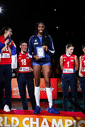 20-10-2018 JPN: Ceremony World Championship Volleyball Women day 21, Yokohama<br /> Best Opposite Paola Ogechi Egonu #18 of Italy