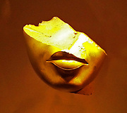 Fragment from the face of a Queen from the 18th Dynasty reign of Akhenaten. circa 1353-1336 BC made from Yellow jasper in the Amarna Style