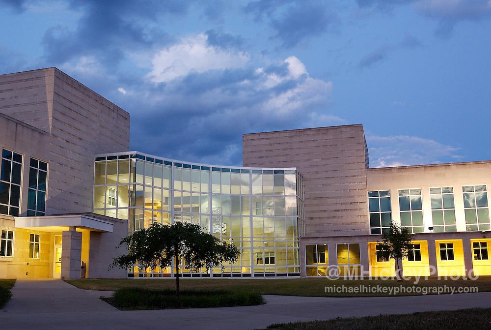 Exterior photo for Indiana University-Kokomo marketing materials. Higher Education photography Photo by Michael Hickey