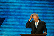 CAPTION- August 30, 2012 Clint Eastwood addresses attendees during the Republican National Convention in Tampa, FL. He later addressed an empty chair that was supposed to represent President Obama. (Matt Roth/Freelance for POLITICO)