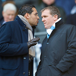 MANCHESTER, ENGLAND - Sunday, January 31, 2010: Manchester City owner Sheikh Mansour bin Zayed Al Nahyan and chief-executive Gary Cooke during the Premiership match against Portsmouth at the City of Manchester Stadium. (Photo by David Rawcliffe/Propaganda)