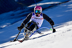 STEPHENS Laurie, LW12-1, USA, Slalom at the WPAS_2019 Alpine Skiing World Cup, La Molina, Spain