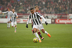 February 18, 2018 - Turin, Piedmont, Italy - Alex Sandro  (Juventus FC) during the Serie A football match between Torino FC and Juventus FC at Olympic Grande Torino Stadium  on 18 February, 2018 in Turin, Italy. Juventus won 0-1 over Torino. (Credit Image: © Massimiliano Ferraro/NurPhoto via ZUMA Press)