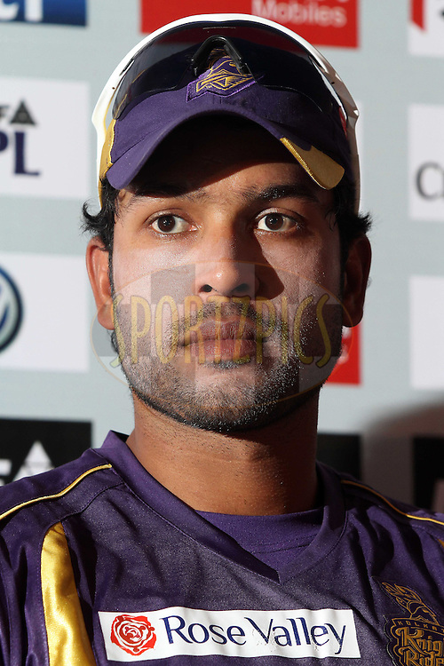 Debabrata Das of the Kolkata Knight Riders during the press conference after the Knight Riders training session held at the Sawai Mansingh Stadium, Jaipur, Rajasthan, India on the 7 April 2012..Photo by Shaun Roy/IPL/SPORTZPICS..