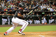PHOENIX, AZ - MAY 28:  Michael Bourn #1 of the Arizona Diamondbacks hits a two run RBI single in the second inning against the San Diego Padres at Chase Field on May 28, 2016 in Phoenix, Arizona.  (Photo by Jennifer Stewart/Getty Images)