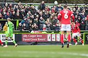Jilly Cooper ad board during the EFL Sky Bet League 2 match between Forest Green Rovers and Walsall at the New Lawn, Forest Green, United Kingdom on 8 February 2020.