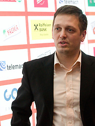 Aleksander Sekulic, head coach of Krka during press conference of KZS before final basketball tournament of Spar Cup 2012, on February 14, 2012, in Austria Trend Hotel, Ljubljana, Slovenia. (Photo by Grega Valancic / Sportida.com)
