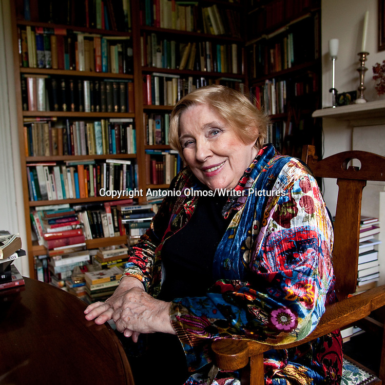 Fay Weldon photographed at her home in Dorset.<br /> Photographed 20th August 2009<br /> <br /> Picture by Antonio Olmos/Writer Pictures<br /> <br /> <br /> WORLD RIGHTS