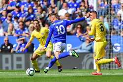 May 12, 2019 - Leicester, England, United Kingdom - Leicester City midfielder James Maddison (10) lines up a shot at goal during the Premier League match between Leicester City and Chelsea at the King Power Stadium, Leicester on Sunday 12th May 2019. (Credit Image: © Mi News/NurPhoto via ZUMA Press)