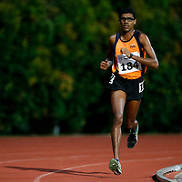 Jeevaneesh S/O Soundarajah of National University of Singapore in action during the men's 10000m event. (Photo &copy; Lim Yong Teck/Red Sports) The 2018 Institute-Varsity-Polytechnic Track and Field Championships were held over three days in January.<br />