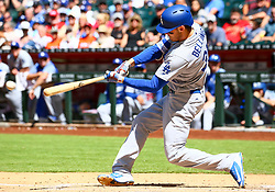 May 3, 2018 - Phoenix, AZ, U.S. - PHOENIX, AZ - MAY 03: Los Angeles Dodgers first baseman Cody Bellinger (35) bats during the MLB baseball game between the Arizona Diamondbacks and the Los Angeles Dodgers on May 3, 2018 at Chase Field in Phoenix, AZ (Photo by Adam Bow/Icon Sportswire) (Credit Image: © Adam Bow/Icon SMI via ZUMA Press)