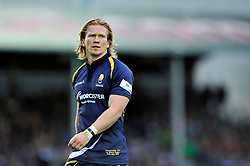 Tom Biggs of Worcester Warriors - Photo mandatory by-line: Patrick Khachfe/JMP - Mobile: 07966 386802 27/05/2015 - SPORT - RUGBY UNION - Worcester - Sixways Stadium - Worcester Warriors v Bristol Rugby - Greene King IPA Championship Play-off Final (Second leg)