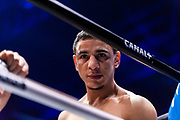 Nordine OUBAALI (FRA) during the Boxing event, La Conquete Tony Yoka, round 4, heavyweight boxing bout between Tony Yoka (FRA) and Cyril Leonet (FRA) on April 7, 2018 at Dome de Paris - Palais des Sports in Paris, France - Photo Pierre Charlier / ProSportsImages / DPPI