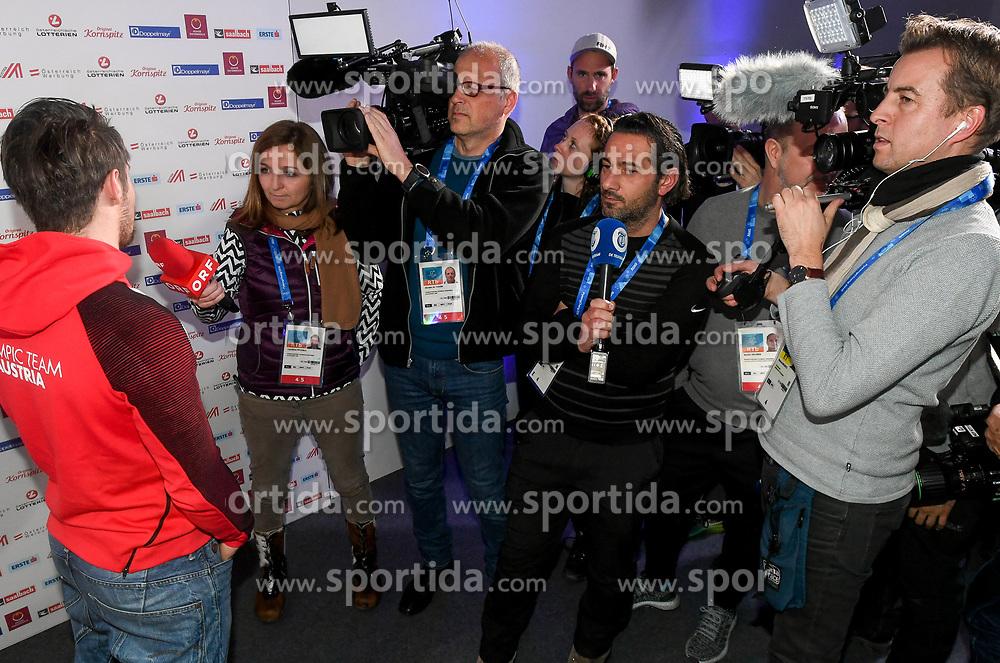 11.02.2018, Austria House, Pyeongchang, KOR, PyeongChang 2018, Pressekonferenz, im Bild Marcel Hirscher // Marcel Hirscher during a Pressconference of the Austrian Olympic Team at the Austria House in Pyeongchang, South Korea on 2018/02/11. EXPA Pictures © 2018, PhotoCredit: EXPA/ Erich Spiess