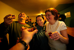 CZECH REPUBLIC VYSOCINA NEDVEZI 6MAR10 - Scene at the bar during the childrens' carnival celebration in the village hall of Nedvezi, Vysocina, Czech Republic. Karnival is the biggest communal event and celebration for the 200-odd villagers...jre/Photo by Jiri Rezac..© Jiri Rezac 2010