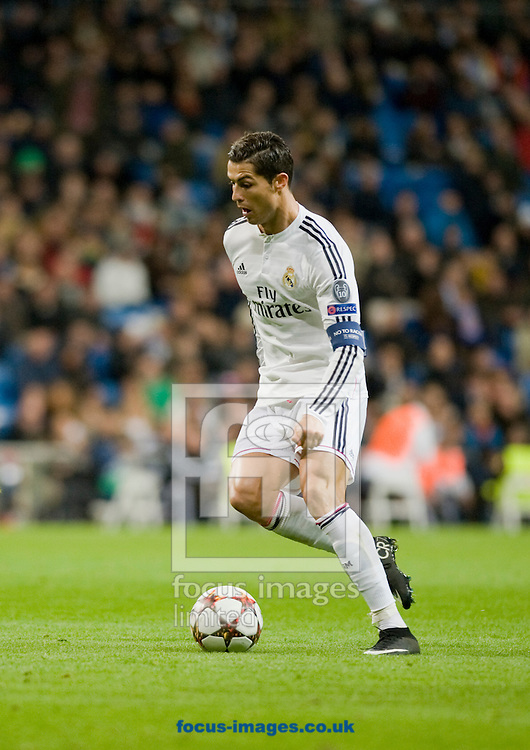 Cristiano Ronaldo of Real Madrid during the UEFA Champions League match at the Estadio Santiago Bernabeu, Madrid<br /> Picture by Marcos Calvo Mesa/Focus Images Ltd +34 654142934<br /> 09/12/2014