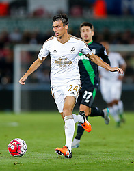 Jack Cork of Swansea City in action - Mandatory byline: Rogan Thomson/JMP - 07966 386802 - 19/10/2015 - FOOTBALL - Liberty Stadium - Swansea, Wales - Swansea City v Stoke City - Barclays Premier League.