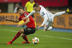 March 21, 2019 - Vienna, Austria - Piotr Zielinski of Poland fiuled by Aleksandar Dragovic of Austria during the UEFA European Qualifiers 2020 match between Austria and Poland at Ernst Happel Stadium in Vienna, Austria on March 21, 2019  (Credit Image: © Andrew Surma/NurPhoto via ZUMA Press)