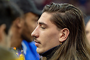 Hector Bellerin of Arsenal during the NBA London Game match between Washington Wizards and New York Knicks at the O2 Arena, London, United Kingdom on 17 January 2019.
