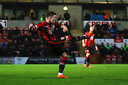 Morecambe Defender Shaun Beeley during the Sky Bet League 2 match between Morecambe and Mansfield Town at the Globe Arena, Morecambe, England on 26 January 2016. Photo by Pete Burns.