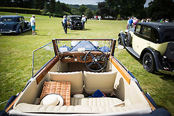 © Licensed to London News Pictures. 07/08/2016. Leeds UK. Picture shows a Blue 4 & a quarter Bentley Derby at the 37th Rolls Royce North rally that has taken place this weekend in the ground's of Harewood House in Yorkshire. The event bring's together some of the UK's most prized motor cars & their proud owners. Photo credit: Andrew McCaren/LNP