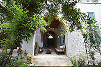 Cyprus garden patio and veranda of restored antique town house