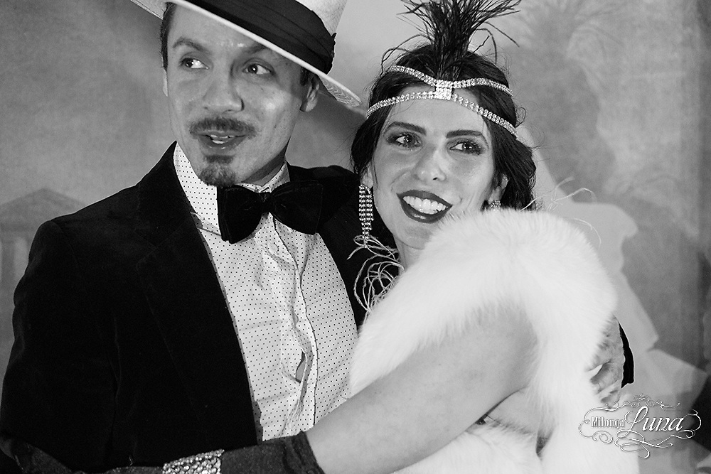 Argentine Tango in Los Angeles at the beautiful vintage style Red Hot Ballroom. The theme of the night was The Great Gatsby; dancers frolicked in their finest 20's attire.