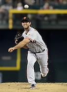 PHOENIX, AZ - JUNE 08:  Starting pitcher Madison Bumgarner #40 of the San Francisco Giants pitches against the Arizona Diamondbacks in the first inning at Chase Field on June 8, 2013 in Phoenix, Arizona. The Giants defeated the Diamondbacks 10-5.  (Photo by Jennifer Stewart/Getty Images)
